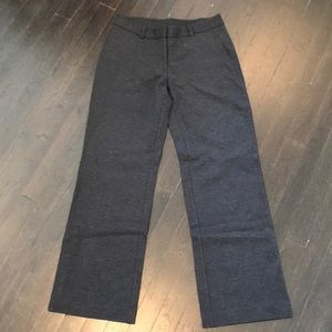 NWT Lands End charcoal grey wide leg stretch pants